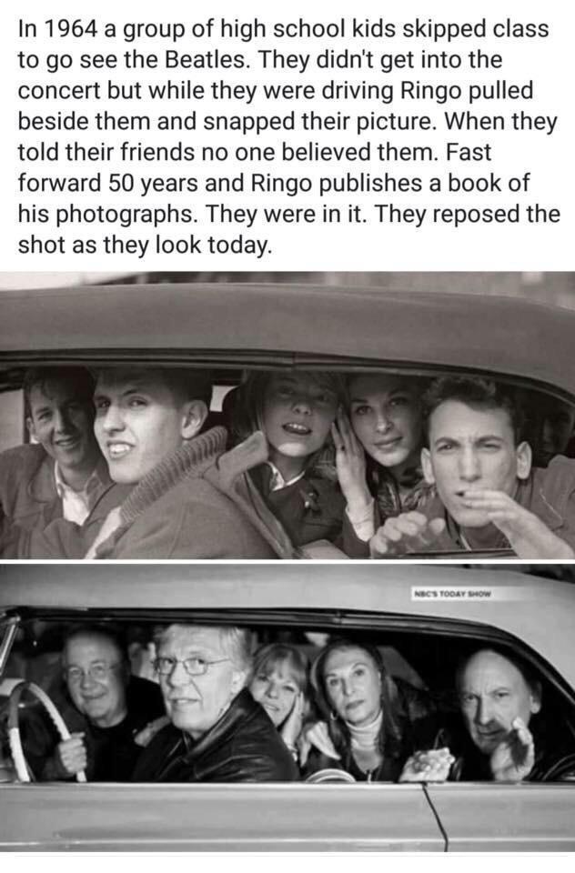 А им никто не верил The Beatles, Черно-Белое фото, Через года, Друзья, Удача