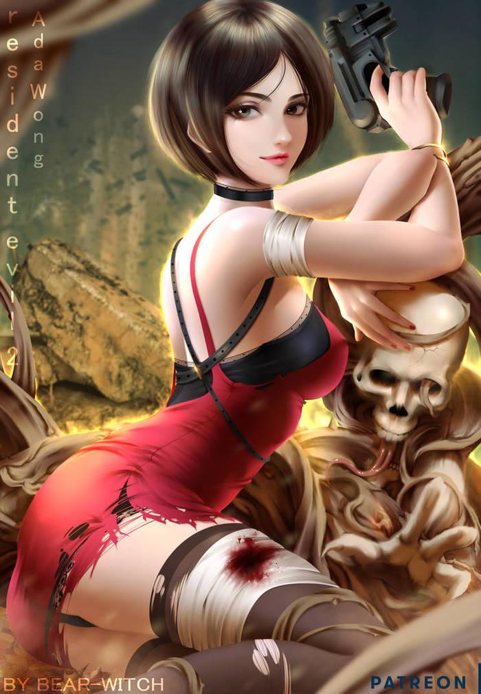 Ada-Wong Deviantart, Resident Evil 2: Remake, Арт, Рисунок, Игры, Ada Wong, Bear-Witch, Bearwitch