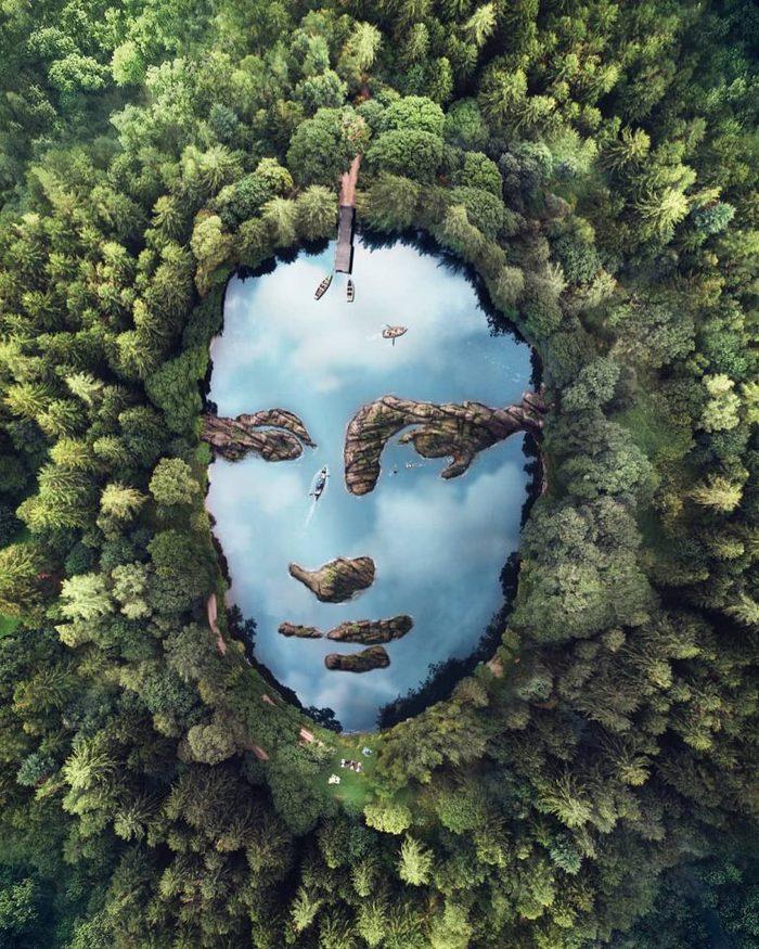 Парень фотошопит пейзажи, делая похожими их на животных. Космос! Фотография, Photoshop, Длиннопост