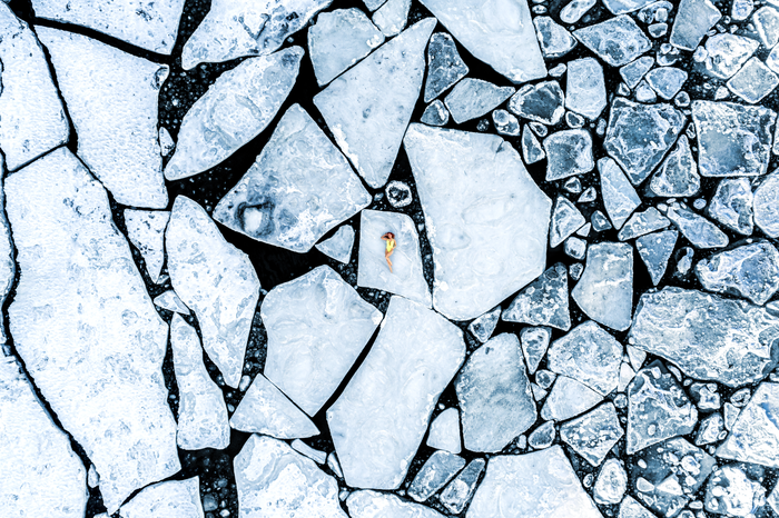 Кусочек лета Фотография, Дрон, Лето, Лёд, Красивая девушка