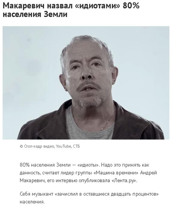 Найден д`Артаньян! Макаревич, Идиотизм, Новости