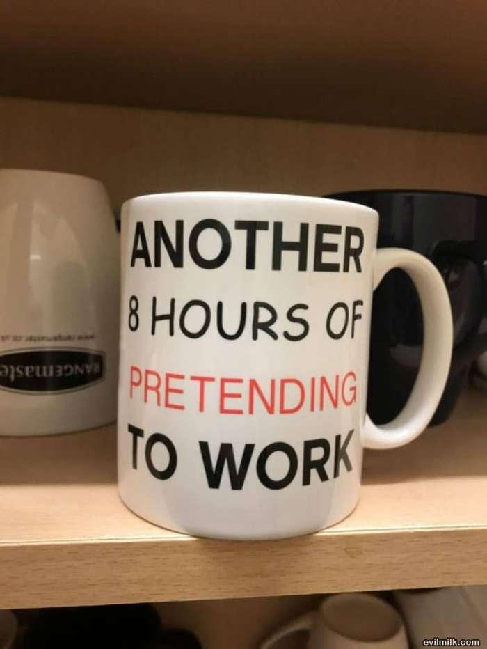 Очередные 8 часов создавать видимость работы