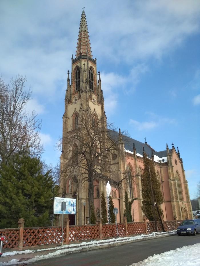 Римско-католический костёл. Bogatynia Архитектура, Польша, Длиннопост, Фотография