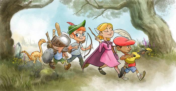 D&D для детей Caleb Cleveland, Dungeons & Dragons, Rolerlaying, Арт, Герои, Приключения