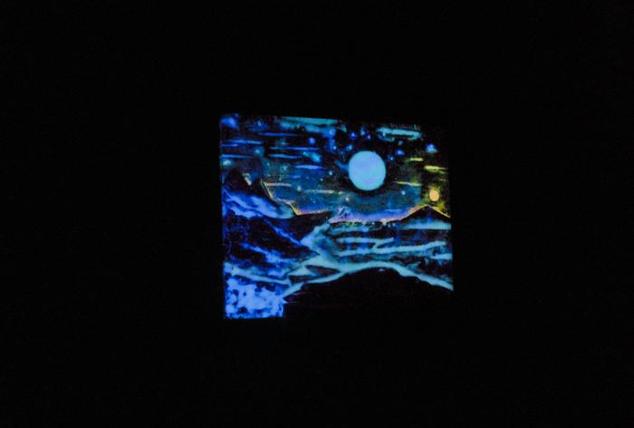 Alien planet (#2) Планета, Космос, Люминофор, Миниатюра, Работа с деревом, Светящийся в темноте, Эпоксидная смола