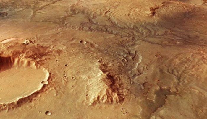 Новые спутниковые снимки древних марсианских рек Космос, Марс, Река, Вода
