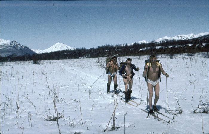 Горнолыжные походы в апреле. СССР Камчатка 1987 г.