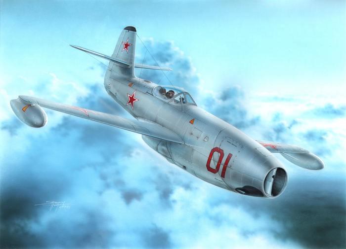 """ЯК-23.""""Флора"""" с британским нутром. Самолеты СССР, Истребитель, Як-23, Длиннопост"""