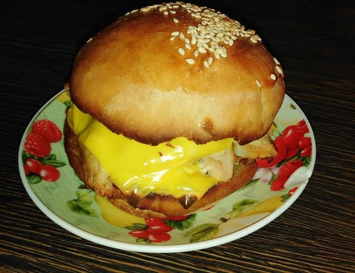 Гриль чикен бургер Бургер, Еда, Длиннопост