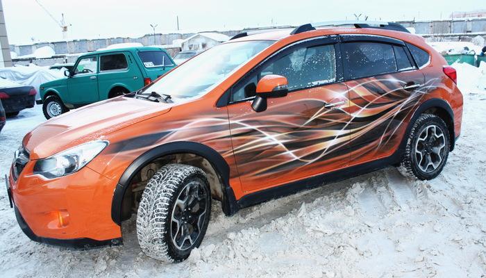 """Аэрография.""""Полосочки"""" на Subaru XV Аэрография, Тюмень, Subaru, Subaru xv, Длиннопост"""