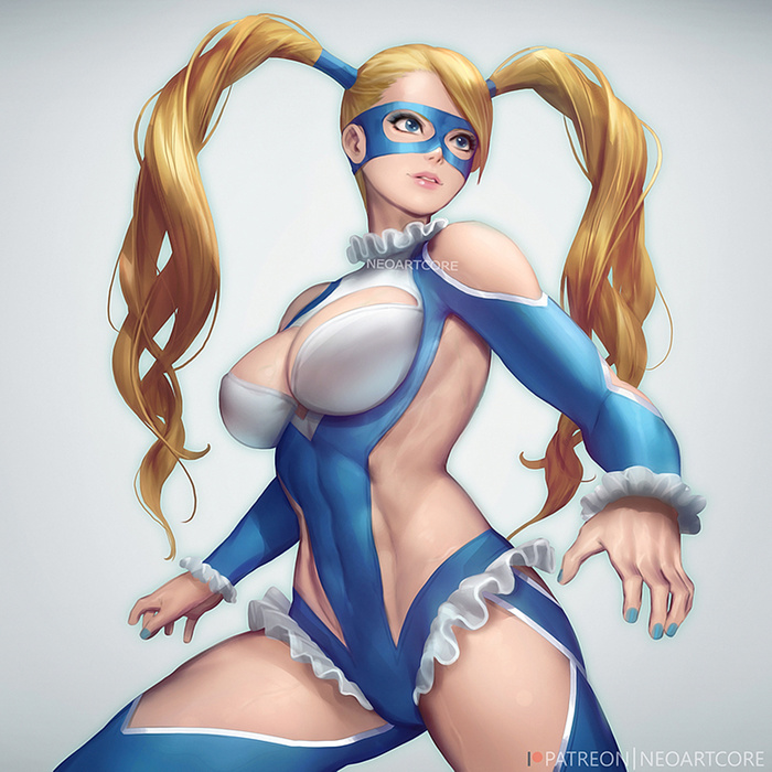 Rainbow Mika Art Арт, Neoartcore, Street Fighter, Rainbow mika, Девушки