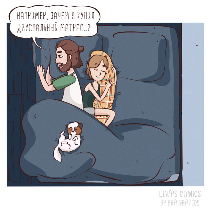 LINA'S COMICS #21 - раздумья Комиксы, Linascomics, Авторский комикс, Юмор, Длиннопост