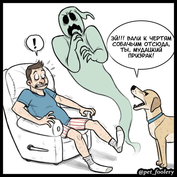 Призрак Призрак, Собака, Комиксы, Перевод, Pet Foolery, Длиннопост