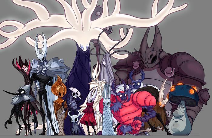 Несколько артов по Hollow Knight Hollow Knight, Арт, Ignacio Urgoiti, Длиннопост
