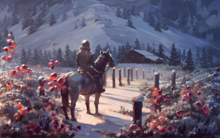 The Way Back Home Арт, Всадник, Iya-Chen
