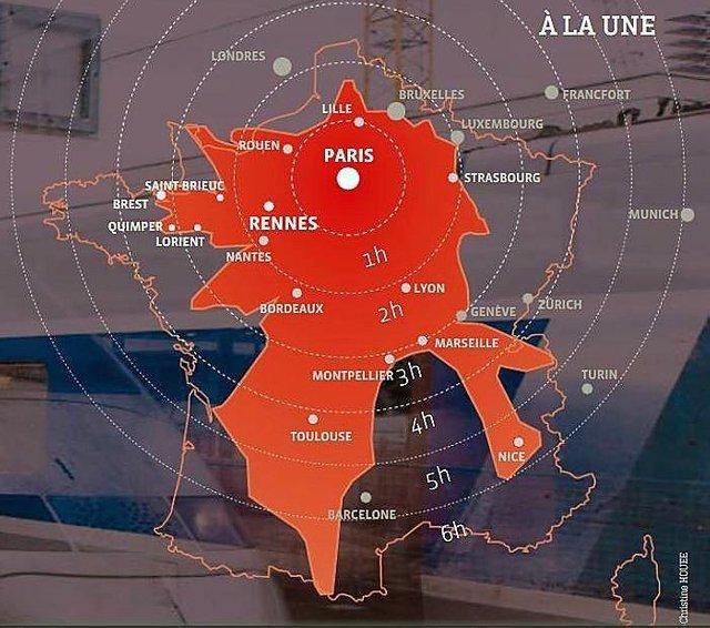 Скукоженная Франция Франция, Поезд, Общественный транспорт, Электричка, Экономика, Деньги, Париж, Длиннопост