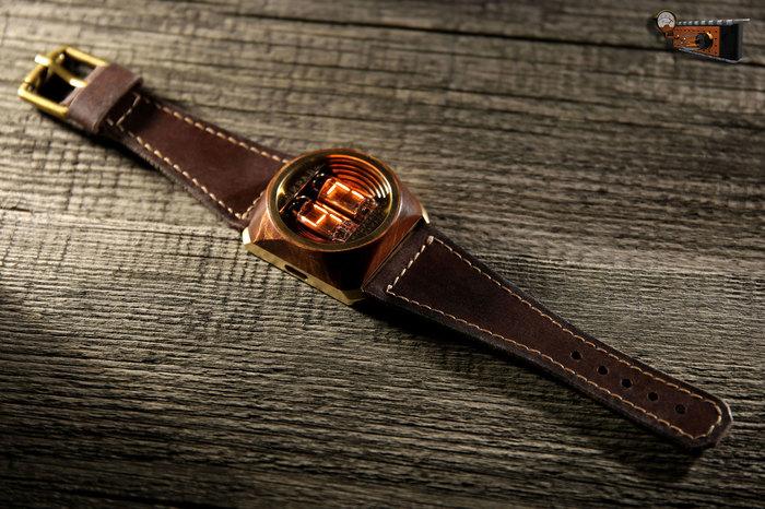Наручные часы «Спираль» с деревянной вставкой Наручные часы, Стимпанк, Самоделки, Длиннопост, Часы, Своими руками