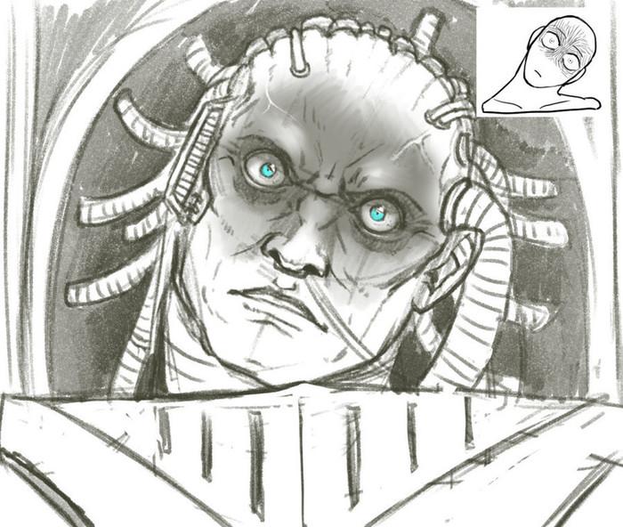 Даже сынам Его присущи эмоции Warhammer 40k, Wh Art, Primaris Space Marines, Fabius Bile, Horus, Konrad curze, Lucius The Eternal, Horus Heresy, Длиннопост