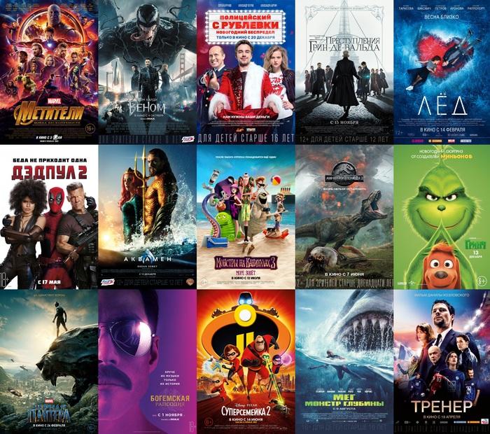 Самые кассовые фильмы 2018 года в российском кинопрокате Фильмы, Кассовые сборы, Киноитоги 2018, Длиннопост