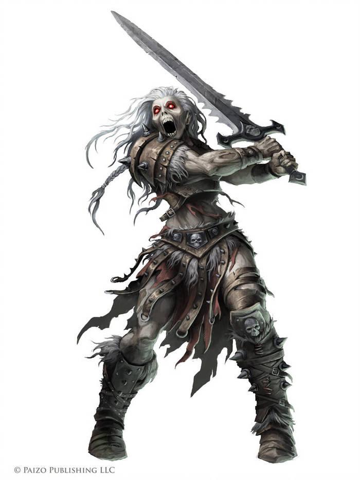 Skeleton. Скелет, Воин, Арт, Длиннопост