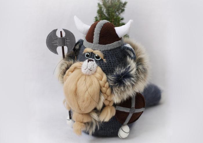 Котик-викинг Муррф Викинги, Ручная работа, Авторская игрушка, Как приручить дракона, Рукоделие без процесса, Длиннопост, Кот