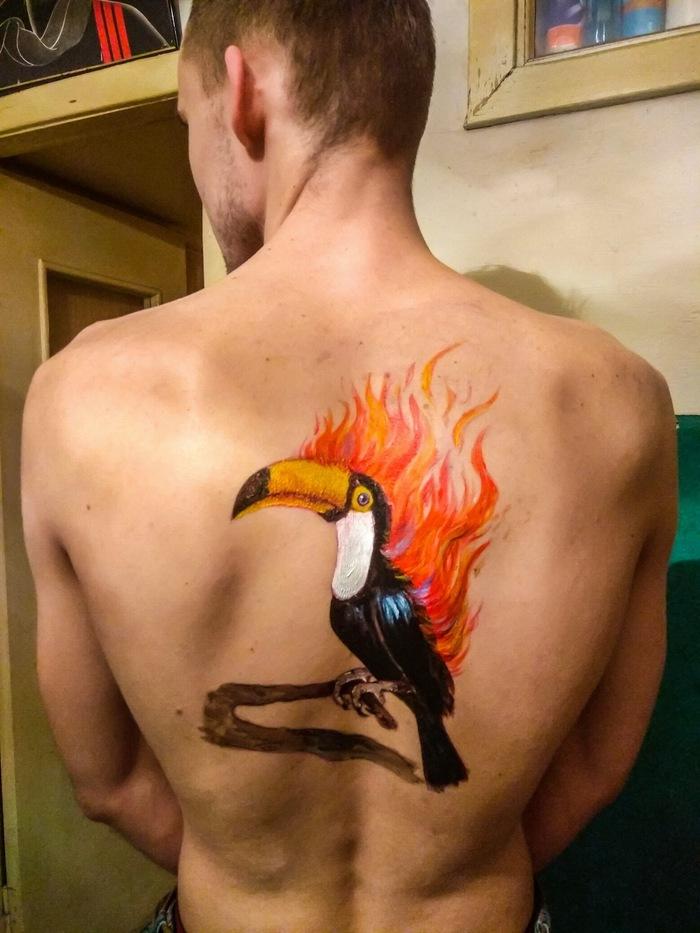 Хочу огненную птицу на всю спину!