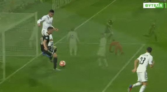 Шикарный гол Аякса в ворота Реала Спорт, Футбол, Лига чемпионов, Реал Мадрид, Аякс, Финт, Гифка