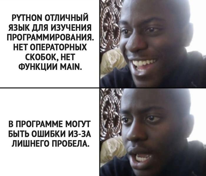 Казалось бы IT юмор, IT, Программирование, Python, Языки программирования, Мемы, Картинка с текстом