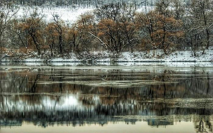 Вид на о. Байду Хочу критики, Хортица, Днепр, Зима, Пейзаж, Nikon, Фотография