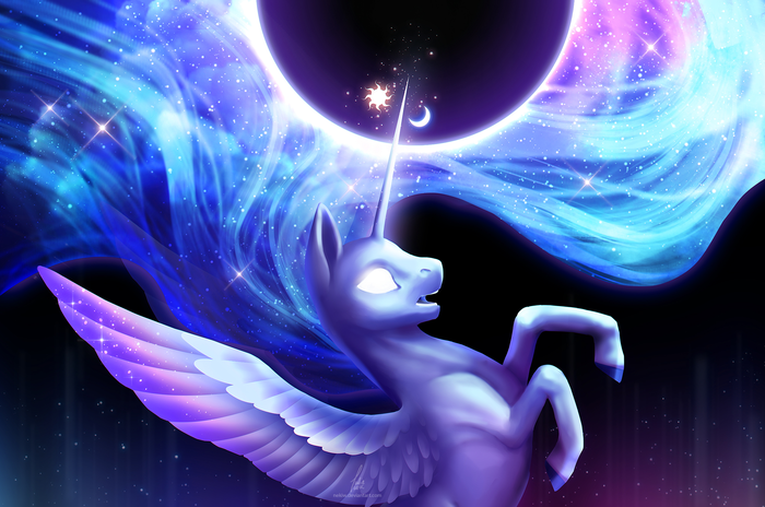 Celestia/Luna fusion My Little Pony, Princess Celestia, Princess Luna, Fusion, Crowik, Nekiw