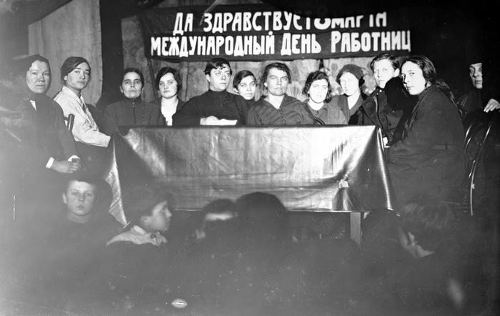Международный женский день или день работниц История, 8 марта, Праздники, СССР, Женщина, Черно-Белое фото