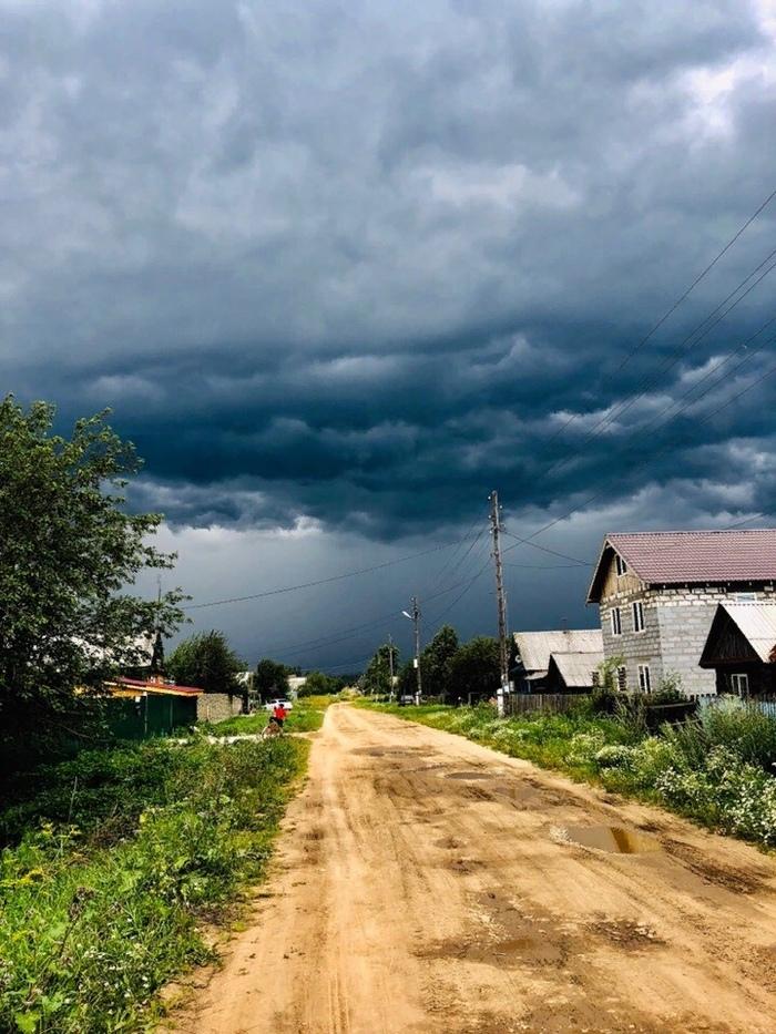 Перед дождем в деревне