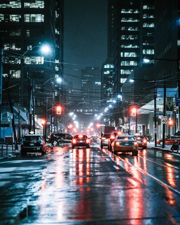 Канада. Торонто. Канада, Фотография, Город, Ночь, Ночной город, Торонто, Длиннопост