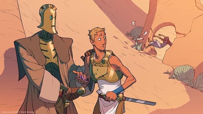 Tellurion [5] Tellurion, Matt rhodes, Арт, Комиксы, Фэнтези, Приключения, Море, Видео, Длиннопост, Процесс рисования