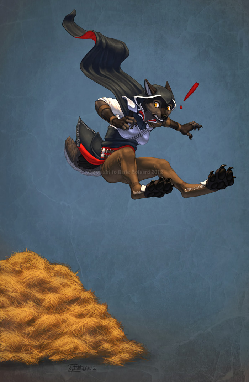 Leap of Fail Фурри, Furry Art, Антро, Assassins Creed, Fail, Wolf-Nymph