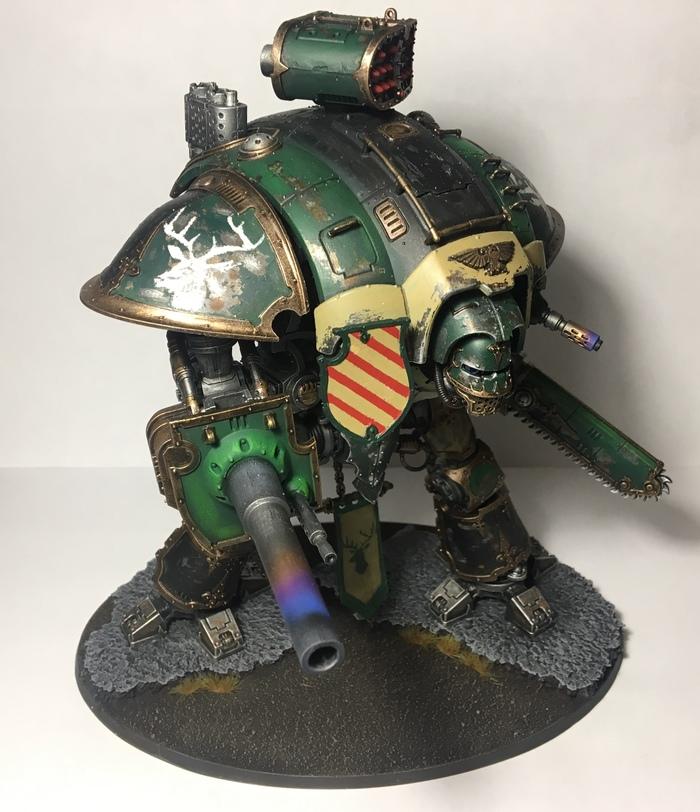 Имперский рыцарь Имперский Рыцарь, Покраска миниатюр, Шагоход, Warhammer 40k, Длиннопост