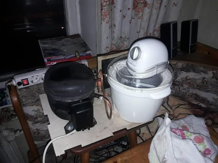 Фризер для мороженного из старого холодильника и подарочной 15$ мороженницы Своими руками, Кухня, Мороженое, Приготовление, Кондиционер, Холодильник, Видео, Длиннопост