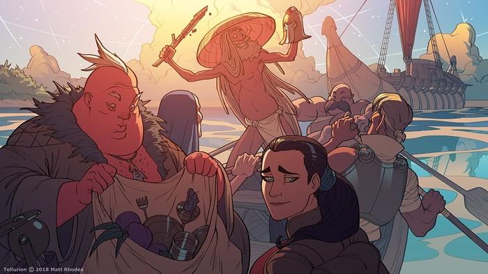 Tellurion [7] Tellurion, Арт, Matt rhodes, Комиксы, Приключения, Фэнтези, Длиннопост