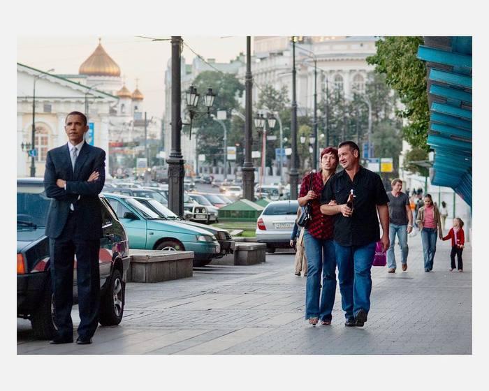 Президент США Барак Обама и ЛАДАВАЗ-21099 Москва, Обама, США, Президент, Лето, Барак, Лада, Автоваз