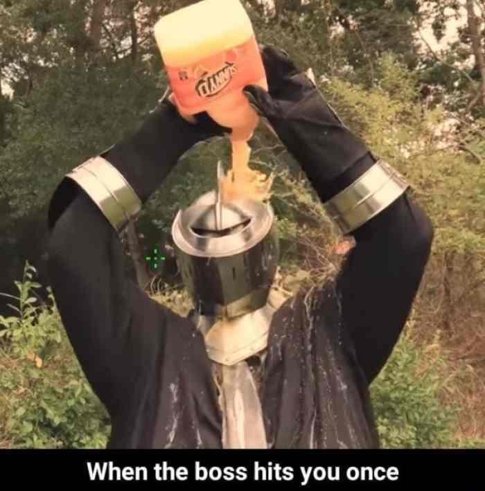 После удара босса