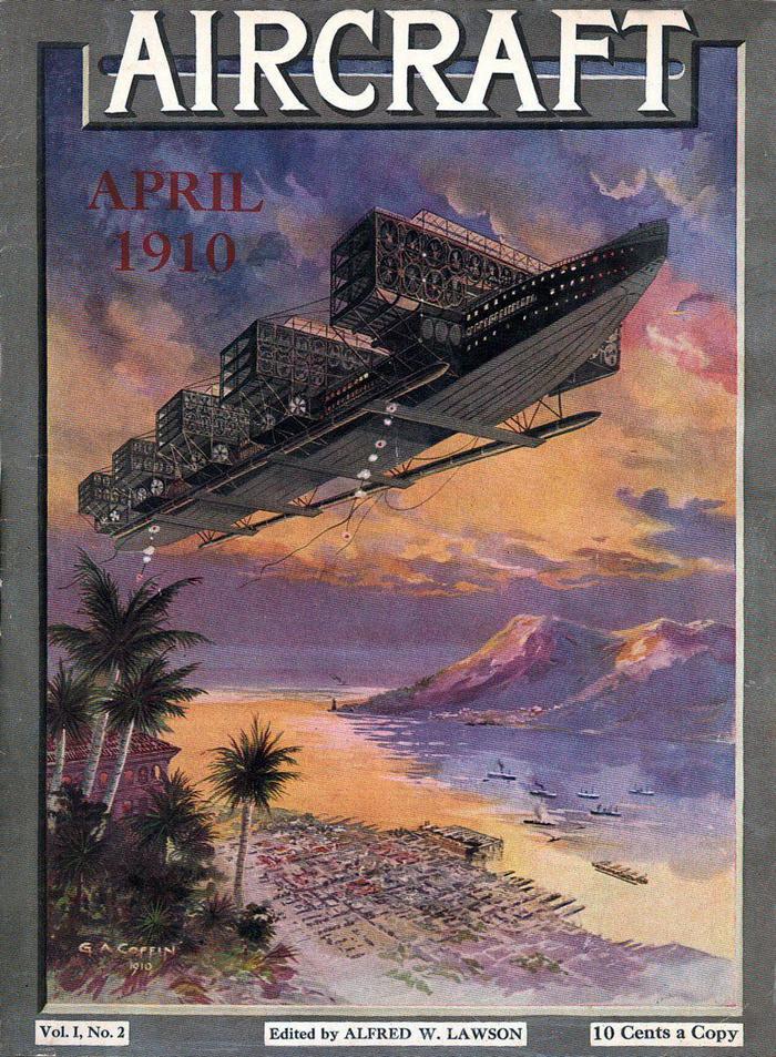 Журнала Aircraft, №2 за апрель 1910 года Авиация, Журнал, Aircraft, США, 20 век, История