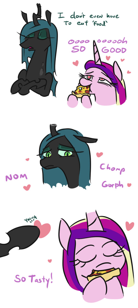 Вкусняшки для поняшки My Little Pony, Queen Chrysalis, Princess Cadance, Комиксы, Jargon Scott