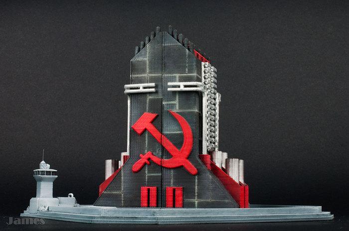 Модель ядерной ракеты и пусковой установки из Red Alert 2 Моделизм, Стендовый моделизм, Red Alert 2, 3D печать, Модель ракеты, Хобби, Видео, Длиннопост