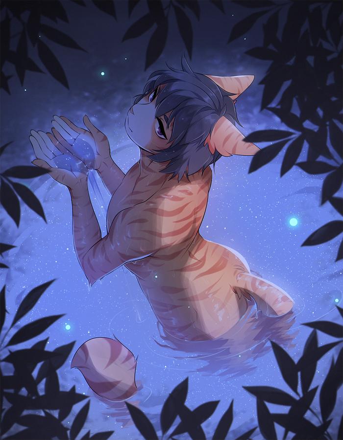 Moonlight lake Фурри, Fumiko, Furry Trap, Furry Art