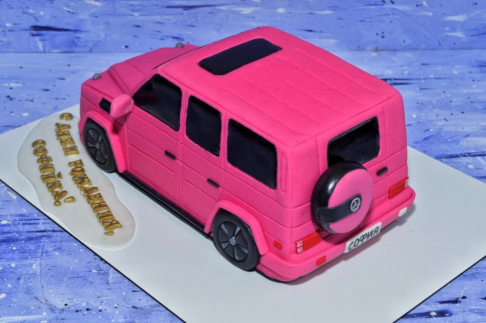 Торт для девушек - Розовый Гелендваген Торт, Машина, Гелендваген, Наполеон, Длиннопост