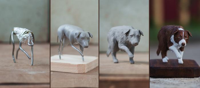 Из старенького Sculpture, Полимерная глина, Figurative, Miniature, Длиннопост, Бордер-Колли