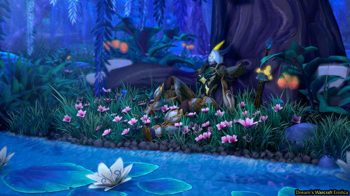 В лучах Долины Призрачной Луны World of Warcraft, Warcraft, Дренеи, Паладин, Дренор, Warlords of Draenor, Battle for Azeroth