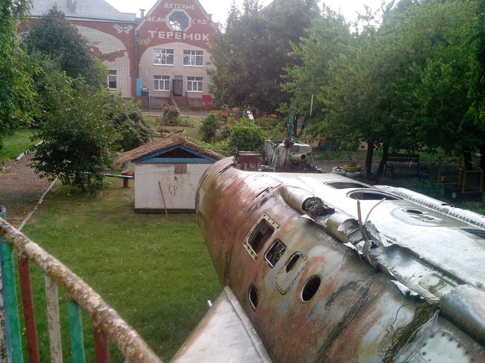 Самолёт во дворе детского сада Детский сад, Самолет, Краснодарский Край, Длиннопост