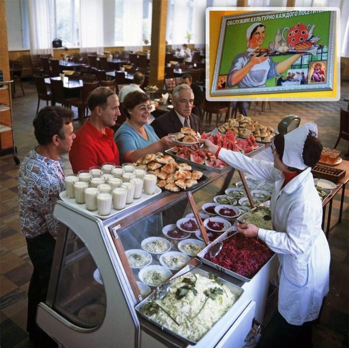 Обед в столовой СССР