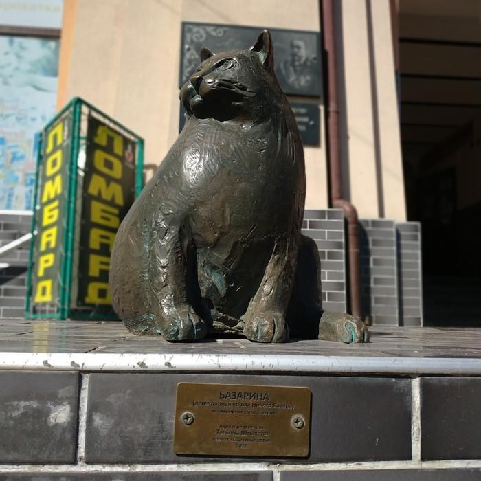 Неживой одесский кошка Кот, Одесса, Новый рынок, Памятник, Память